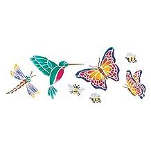 Delta Creative Stencil Magic Decorative Stencils, 5.25 by 13-Inch, 956270012 Butterflies and More