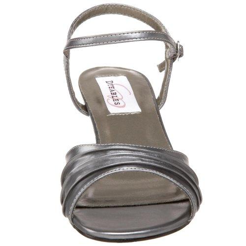 Dyeables Women's Brielle Ankle-Strap Sandal Pewter Metallic clearance big discount qkWsW7EBLs