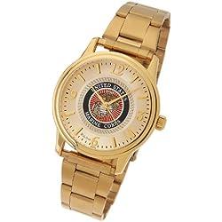 Men's US Marine Corps USMC Gold Plated Bulova USA Military Watch