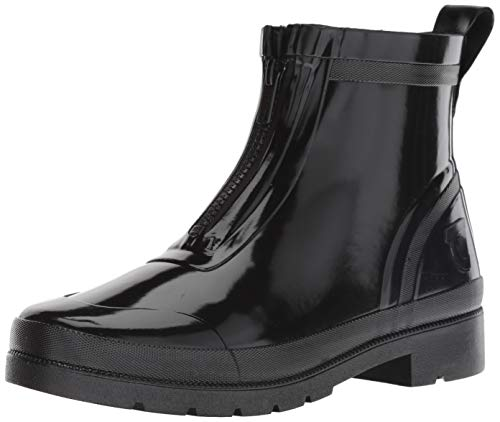 Tretorn Women's LINAZIPWNT Rain Boot, Black, 10 M US