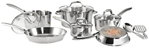 T-fal C798SC Ultimate Stainless Steel Copper Bottom 12-Piece