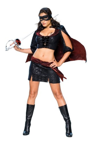 Secret Wishes Women's Zorro, Lady Zorro Sassy Adult Costume, Multicolor, X-Small (Mask Of Zorro Sword)