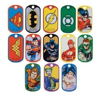 DC Comic Super Hero Dog Tags (2 Dozen) ()