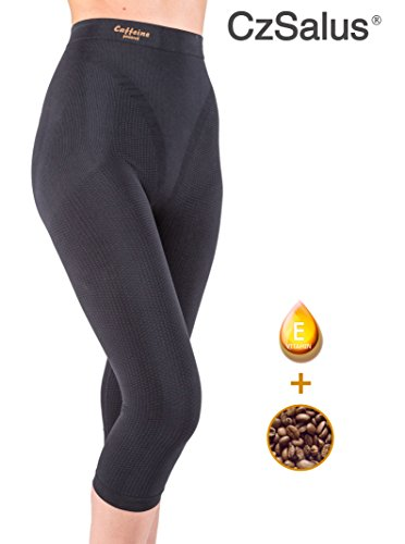 Anti cellulite slimming capri pants with caffeine microcapsules - Black size -