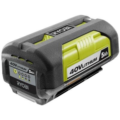 Ryobi 40-Volt Lithium-Ion 5 Amp Hour High Capacity Battery ()