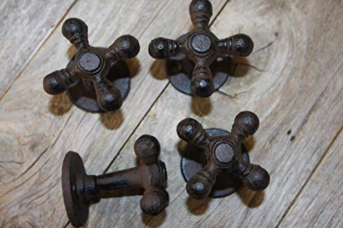 - Southern Metal Farmhouse Kitchen Cabinet Knobs Pulls Cast Iron Faucet Handle (4 Pieces) H-89