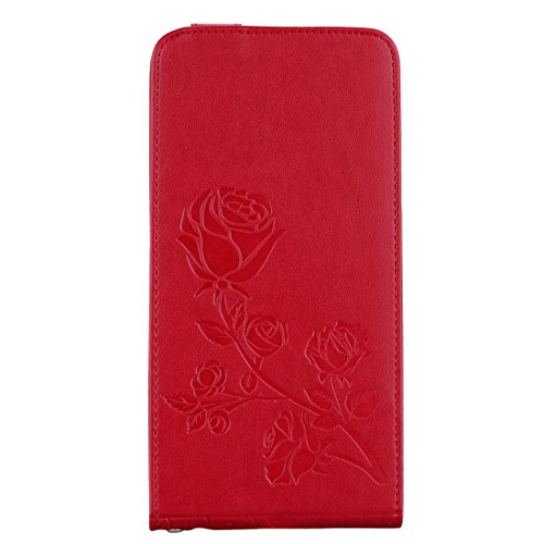 Wkae Roses Pressed Flowers Pattern Vertical Flip Leder Tasche mit Card Slot & Lanyard Für iPhone 6 Plus & 6s Plus ( Size : Ip6p6060r )