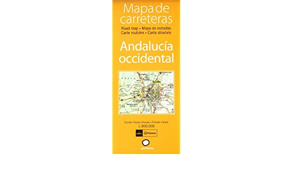 Mapa De Carreteras Andalucia Occidental Atlas Spanish Edition