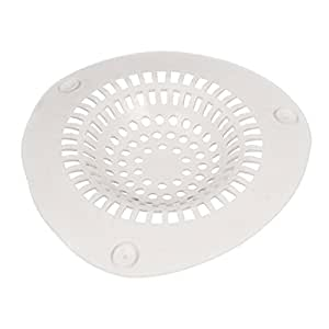 uxcell Kitchen Bath Waste Filter Net Drain Hair Stopper Catcher Off White