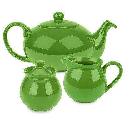Waechtersbach Fun Factory Tea Set, Green Apple (Waechtersbach Sugar Dish)