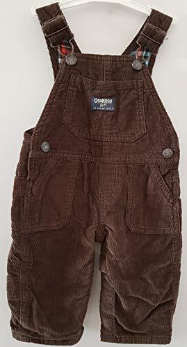 - OshKosh B'Gosh Baby Boys Flannel Lined Cord Overalls Mint Plaid 6 Months