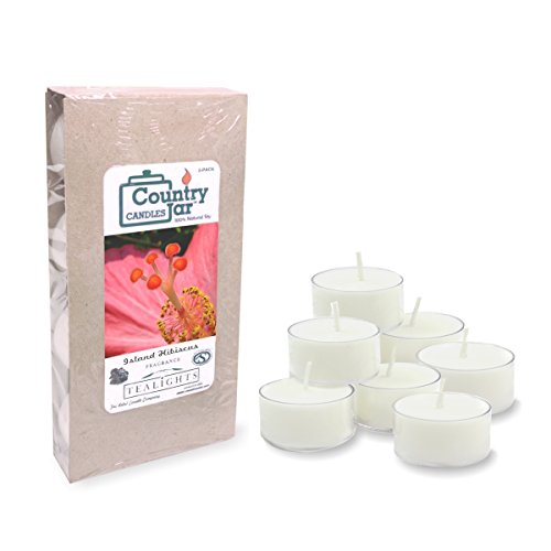 (Country Jar Island Hibiscus Soy Tea Light Candles (8-Pack/.75 oz. ea.) Spring Pick-3 Sale! See Details.)