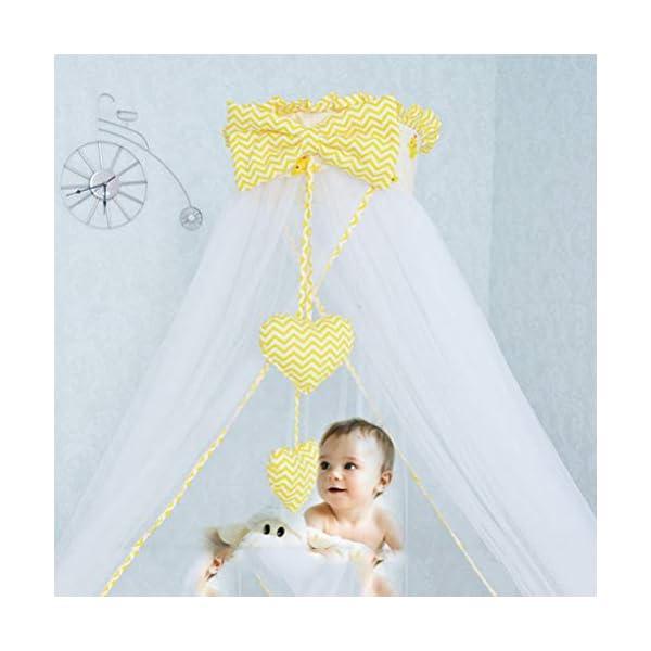 ZXYSR Princess Letto A Baldacchino Zanzariera per Bambini Culla, Round Dome Kids Indoor Castle Play Tent Tela di Cotone… 2 spesavip
