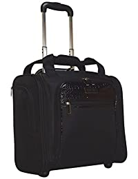 Kenneth Cole Reaction Croc Wheeled Under Seat Bag Carry On (Black)