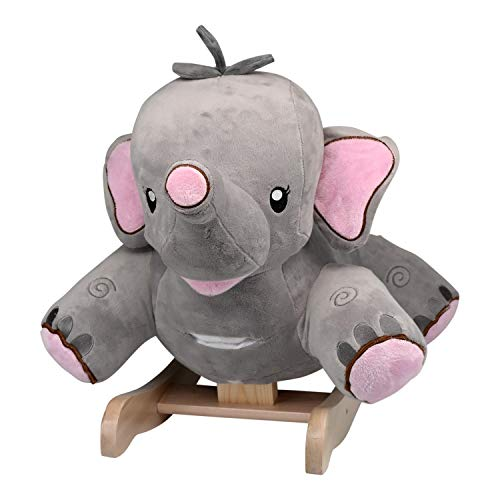 Baby Rocker, Educational, Fun Toys All Wrapped Up in Rosie The Elephant Rocker Engraved with Your Child's Name in Choice of Colors