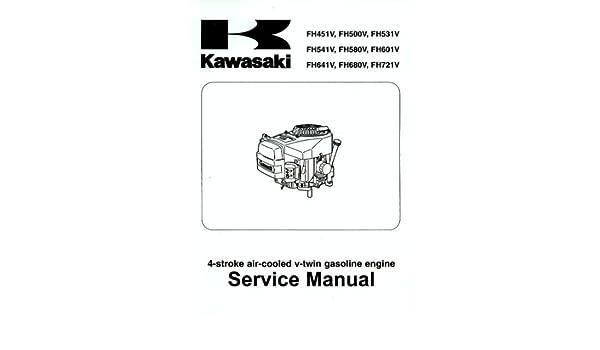 kawasaki service manual 4 stroke air cooled gasoline engines rh amazon com Kawasaki FH500V Kawasaki FH500V