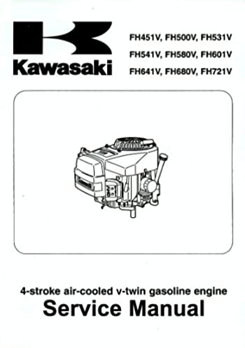 kawasaki service manual 4 stroke air cooled gasoline engines rh amazon com kawasaki fh451v repair manual YouTube Kawasaki FH451V