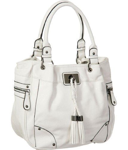 """White Melie Bianco """"Genevieve"""" Large Tote Bag, Bags Central"""