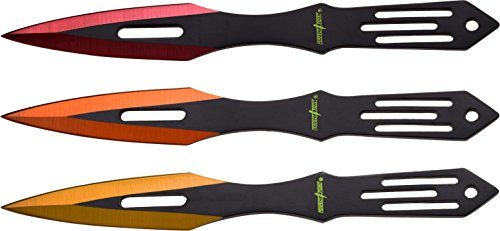 Perfect Point 3Piece Multi-Color 6.5 Thrower in Nylon Sheath