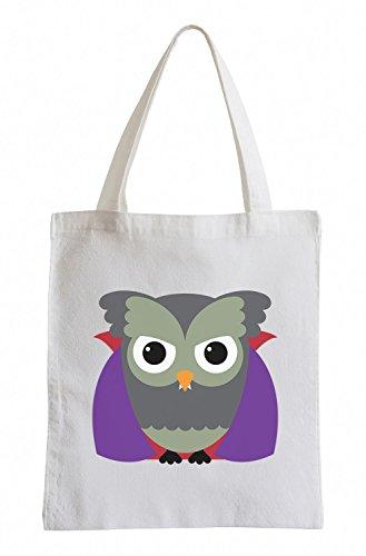 Raxxpurl Dracula Owl Fun sacchetto di iuta