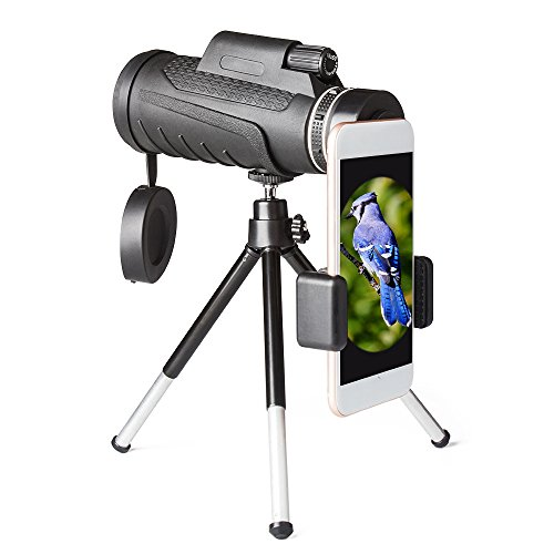 PLLP Telescope Single High - Definition High - Definition Telescope Outdoor High - Definition Dual - Tone Even Mobile Phone Camera Night Vision,Black by PLLP