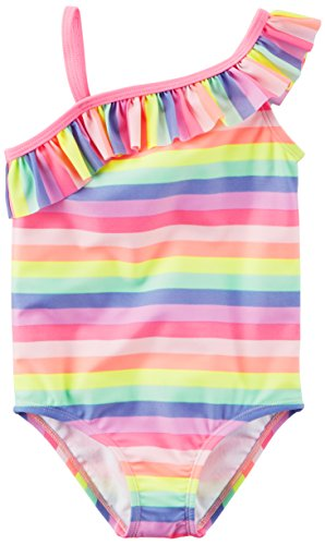Price comparison product image Carter's Baby Girls' One Piece Swimsuit, Multi Stripe, 12M