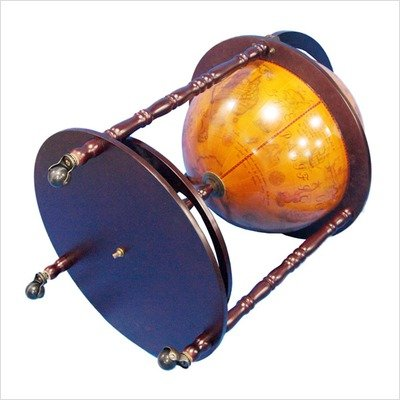 Merske 20-Inch Diameter 16th Century Italian Style Floor Globe Bar