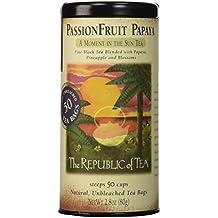 The Republic Of Tea Passionfruit Papaya Black Tea, 50 Tea Bags, Exotic Fruit Gourmet Blend