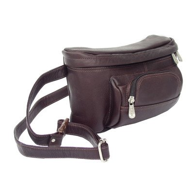 Adventurer Carry-All Waist Bag Color: Chocolate by Piel Leather