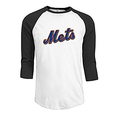 Duola Men's 3/4 Sleeve Raglan T Shirt NewYork Met Black