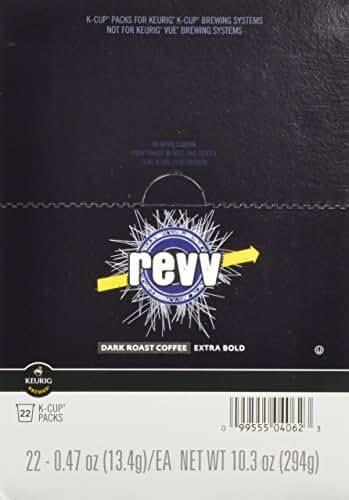 Revv K-Cup for Keurig Brewers, Dark Roast (Pack of 88)