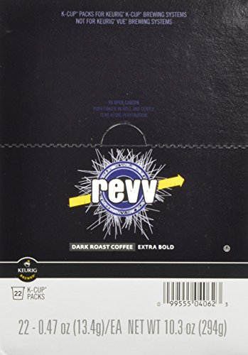 Revv K-Cup for Keurig Brewers, Dark Roast (Pack of 88)