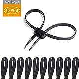 Tool Gadget Disposable Zip Tie Handcuffs, Black