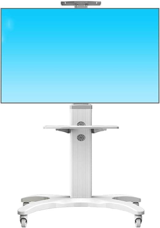 Jsmhh Rodando for TV de, Base de la Pantalla de TV móvil for LCD de 32-65 Pulgadas de Plasma LED con Ruedas, Altura Ajustable Universal Mobile TV Carro, Soporte de Suelo: Amazon.es: