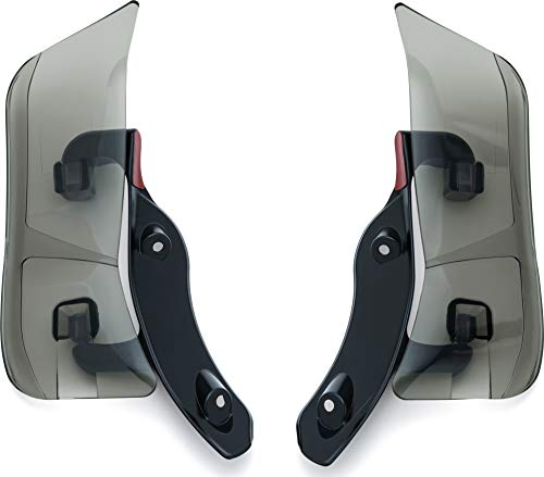 Kuryakyn 1244 Air Management Motorcycle Accessory: Adjustable Fairing Wind/Air Deflectors for 2015-19 Harley-Davidson Road Glide Motorcycles, Dark Smoke, 1 Pair