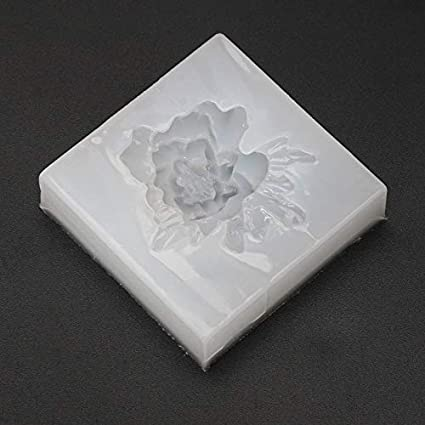 Silicone Mold Flower Rose Mirror Craft DIY Jewelry Cake Decor Making Epoxy Resin