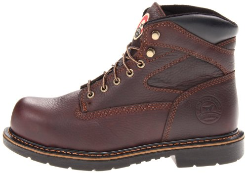"Irish Setter Men's 83624 6"" Steel Toe Work Boot,Brown,10.5 EE US"