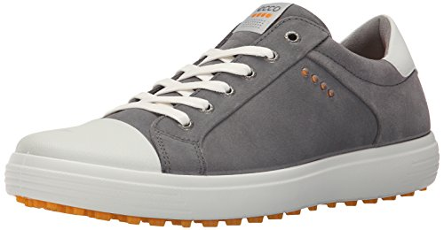 ECCO Men's Casual Hybrid Golf Shoe, Titanium/White, 46 EU/12-12.5 M US