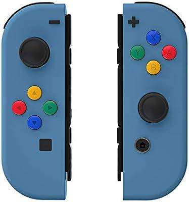 eXtremeRate Carcasa para JoyCons de Nintendo Switch Funda de Agarre Shell de Bricolaje Cubierta Tacto Suave con ABXY Drecctión Botones para Nintendo Switch No Incluye Carcasa de Consola(Azul Azafata): Amazon.es: Electrónica
