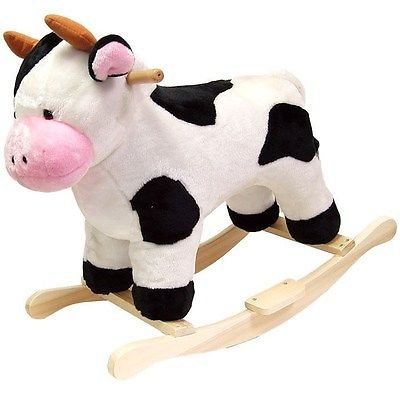 Cow Plush Rocking Animal HAPPY TRAILS