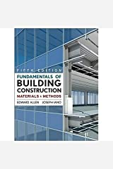 Fundamentals of Building Construction: Materials and Methods [Hardcover] [2008] 5 Ed. Edward Allen, Joseph Iano Paperback