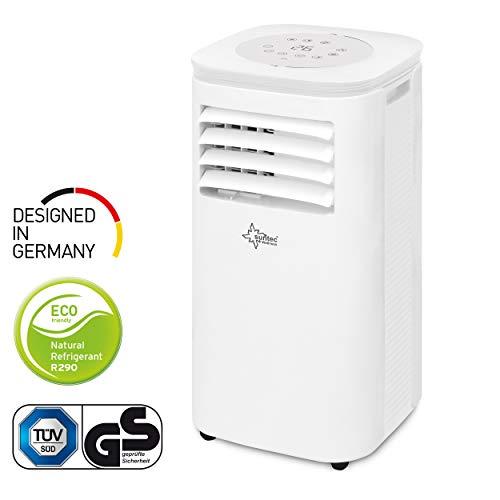 🥇 Suntec Wellness Aire Acondicionado Local móvil CoolFixx 2.0 Eco R290   Silencioso   Tubo para la evacuación del Aire condensado   Enfriar habitacion hasta 25 m2   7.000 BTU/h   Clasific. energética