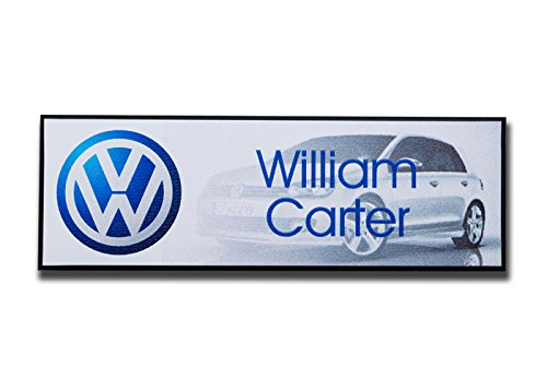 (Name Badges | Name Tags - Name & Logo - Plastic with Magnetic Backing)