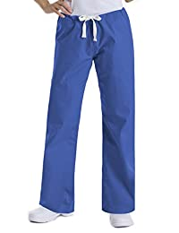 Landau Women's 9502 Urbane Relaxed Drawstring Pant Royal Blue Medium Tall