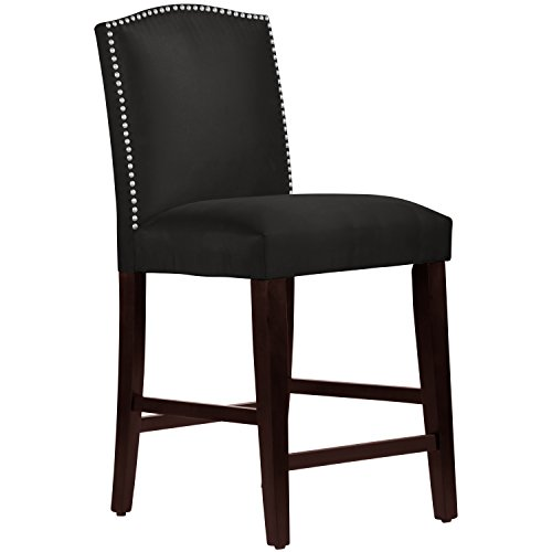 Skyline Furniture Nail Button Arched Counter Stool, Premier Black - Skyline Upholstered Chair