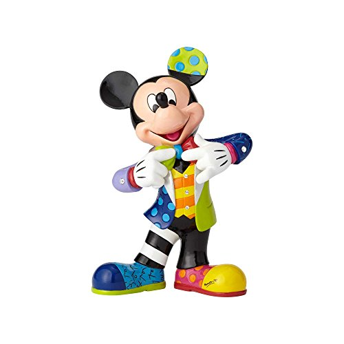 Enesco Disney by Britto Mickey Mouse with Bling 90th Celebration Stone Resin Figurine, 10.5