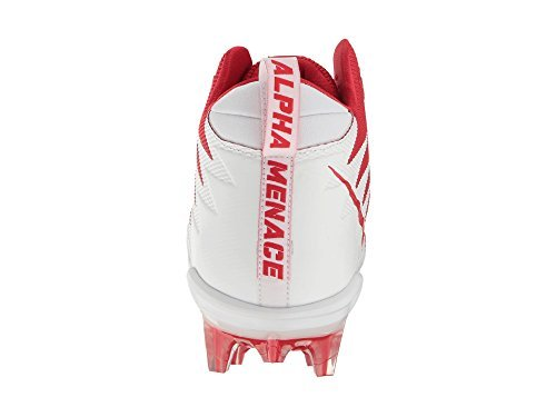 NIKE Alpha Menace Pro Mid Men's Football Cleats 871451 611 University Red/White - White (11.5)