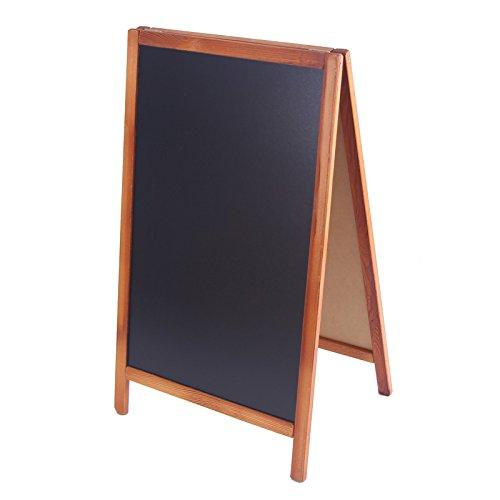 Kundenstopper Holz 93x56cm Tafel Aufsteller Werbetafel Holztafel Werbeaufsteller (hellbraun)