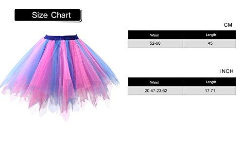 fa5ba0785b88 Acecharming Girl's Short Vintage Ballet Bubble Tutu Skirts Tulle ...
