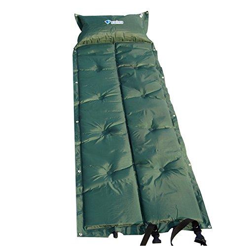 YOPEEN Faltende Matte im Freien Automatische aufblasbare Matte der kampierenden Matratze selbstaufblasende feuchtigkeitsfeste Zelt-Auflage mit Kissen